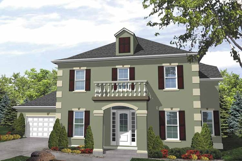 Country Exterior - Front Elevation Plan #320-833 - Houseplans.com