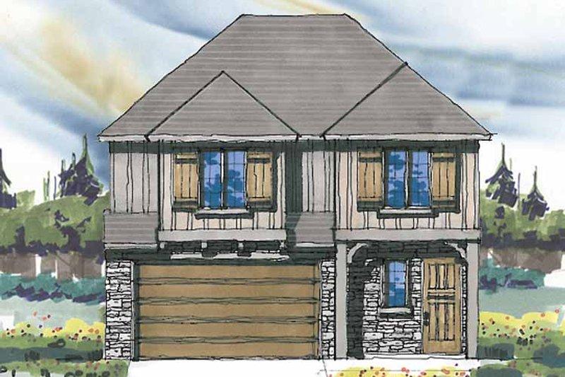 Prairie Exterior - Front Elevation Plan #509-236 - Houseplans.com