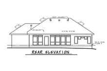 Home Plan - Ranch Exterior - Rear Elevation Plan #20-2297