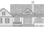 Traditional Style House Plan - 4 Beds 3 Baths 2556 Sq/Ft Plan #137-367 Exterior - Rear Elevation