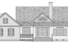House Plan Design - Traditional Exterior - Rear Elevation Plan #137-367