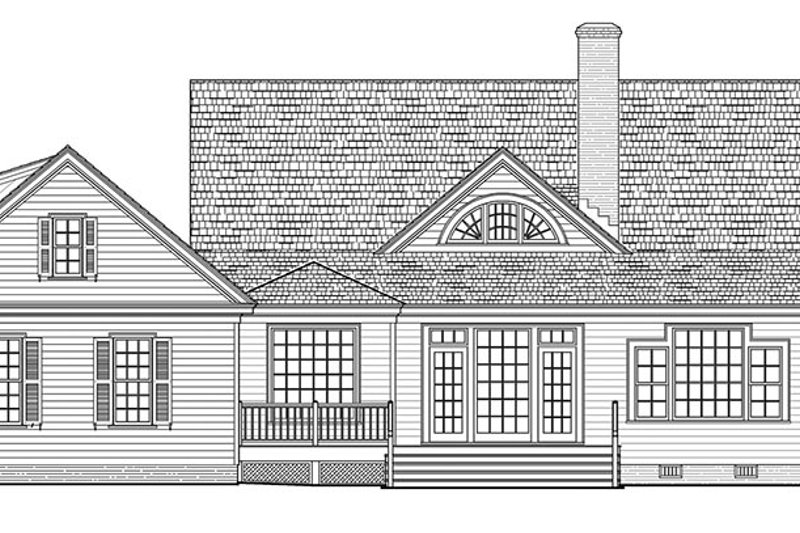 Traditional Exterior - Rear Elevation Plan #137-367 - Houseplans.com