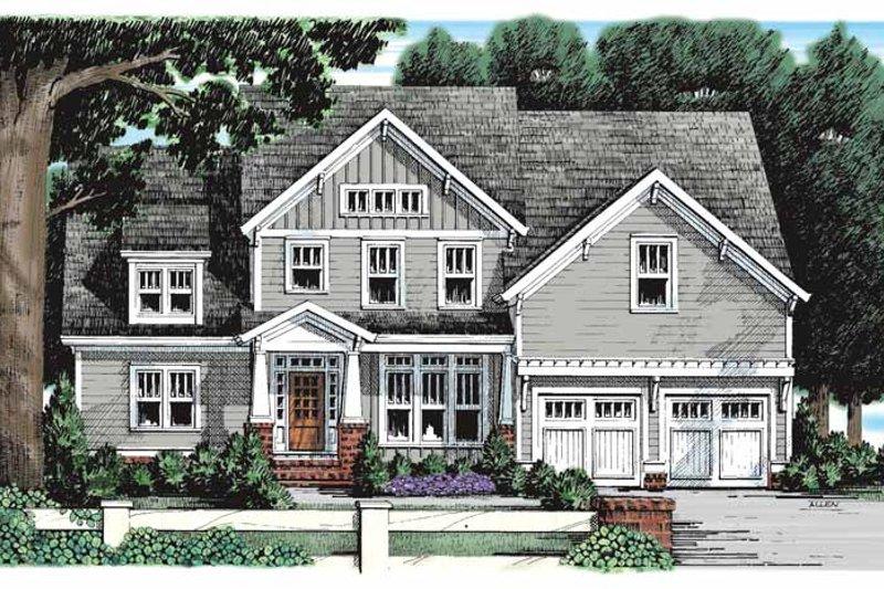 Craftsman Exterior - Front Elevation Plan #927-930
