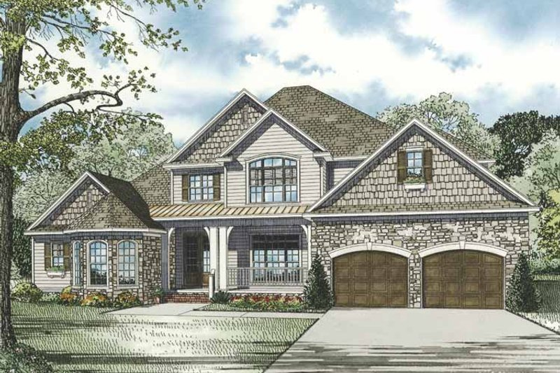 Country Exterior - Front Elevation Plan #17-3283 - Houseplans.com