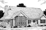 Country Style House Plan - 4 Beds 3.5 Baths 2380 Sq/Ft Plan #20-183 Exterior - Rear Elevation