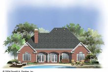 Dream House Plan - Traditional Exterior - Rear Elevation Plan #929-744