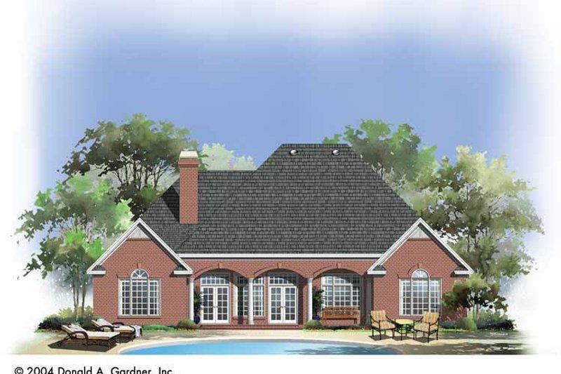 Traditional Exterior - Rear Elevation Plan #929-744 - Houseplans.com