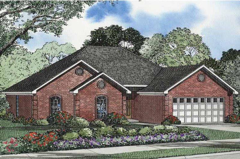 Ranch Exterior - Front Elevation Plan #17-2962 - Houseplans.com