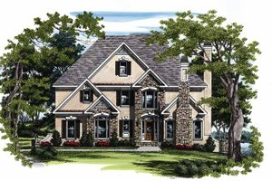 European Exterior - Front Elevation Plan #927-107