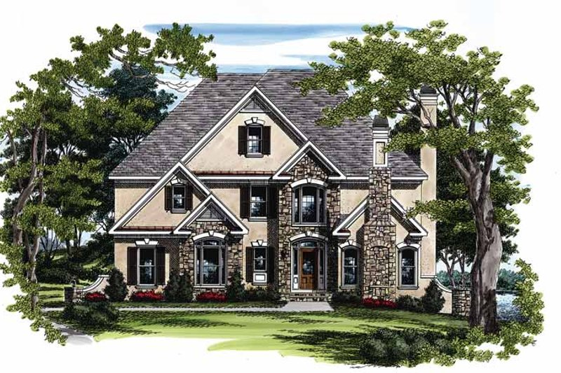 Home Plan - European Exterior - Front Elevation Plan #927-107