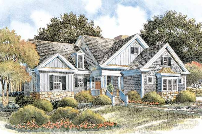 Craftsman Exterior - Front Elevation Plan #429-404