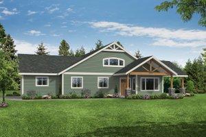 Craftsman Exterior - Front Elevation Plan #124-1184