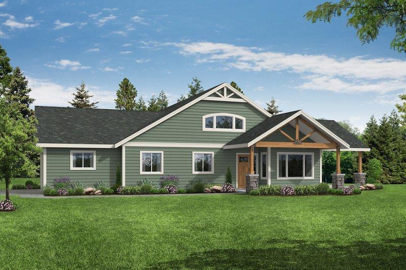 Architectural House Design - Craftsman Exterior - Front Elevation Plan #124-1184