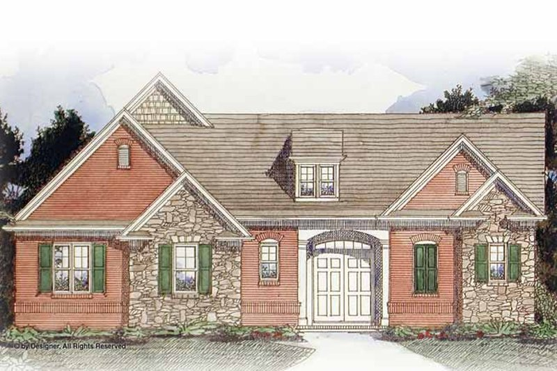 Dream House Plan - Traditional Exterior - Front Elevation Plan #54-351