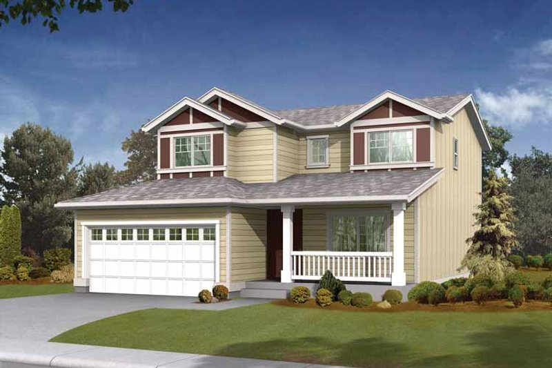 Craftsman Exterior - Front Elevation Plan #569-5 - Houseplans.com