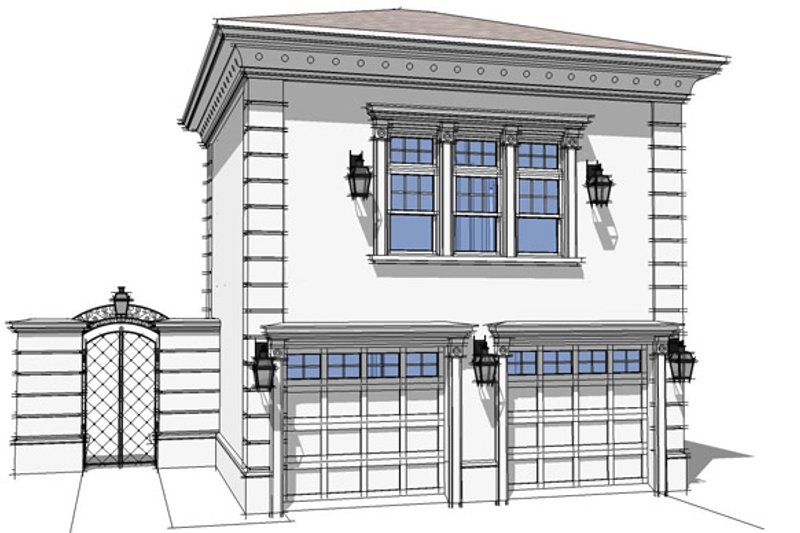 Classical Exterior - Front Elevation Plan #64-318 - Houseplans.com
