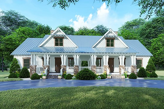 Craftsman Exterior - Front Elevation Plan #923-123