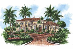 House Design - Mediterranean Exterior - Front Elevation Plan #1017-64