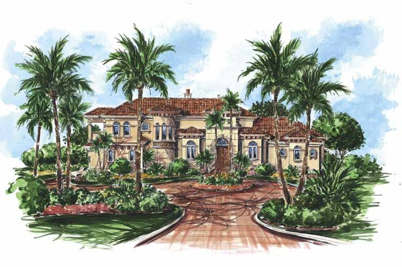 Mediterranean Exterior - Front Elevation Plan #1017-64 - Houseplans.com
