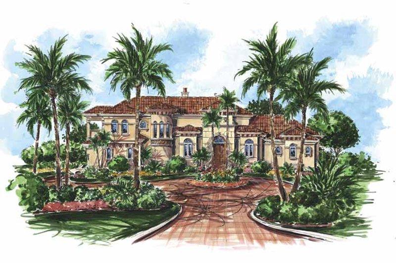 House Design - Mediterranean Exterior - Front Elevation Plan #1017-64