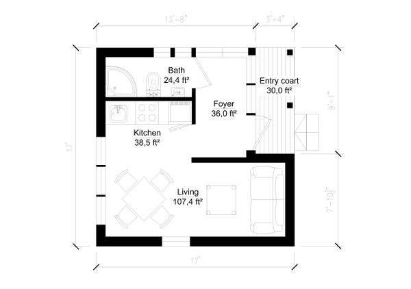 Modern Floor Plan - Main Floor Plan #549-10
