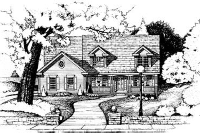 Country Exterior - Front Elevation Plan #20-1019