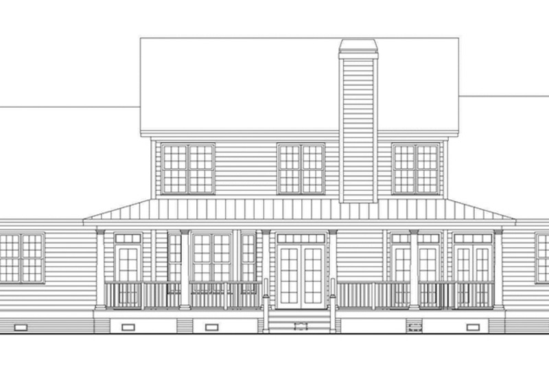 Country Exterior - Rear Elevation Plan #929-667 - Houseplans.com