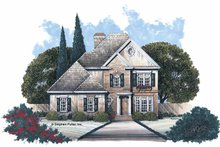 Home Plan - Colonial Exterior - Front Elevation Plan #429-84