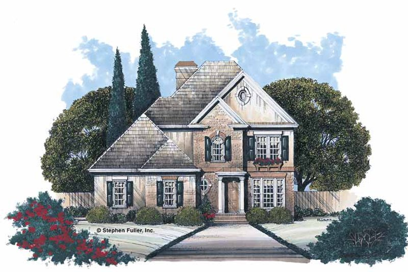 Home Plan Design - Colonial Exterior - Front Elevation Plan #429-84
