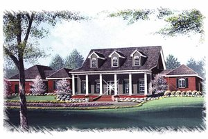Home Plan - Colonial Exterior - Front Elevation Plan #15-320