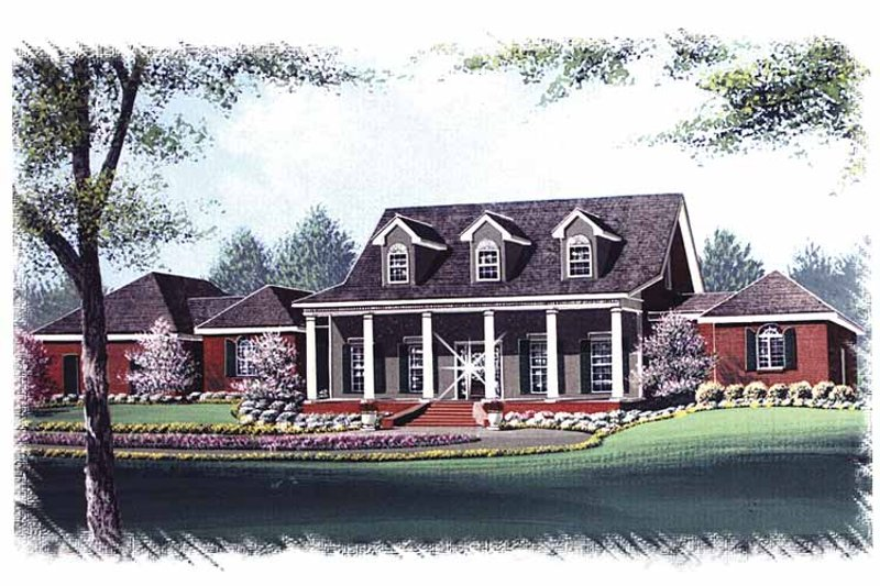 Colonial Exterior - Front Elevation Plan #15-320