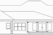 Country Exterior - Rear Elevation Plan #44-202