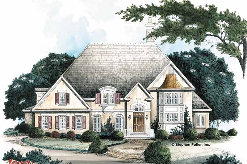 European Exterior - Front Elevation Plan #429-156 - Houseplans.com