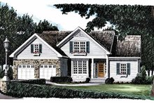 Home Plan - Country Exterior - Front Elevation Plan #927-395
