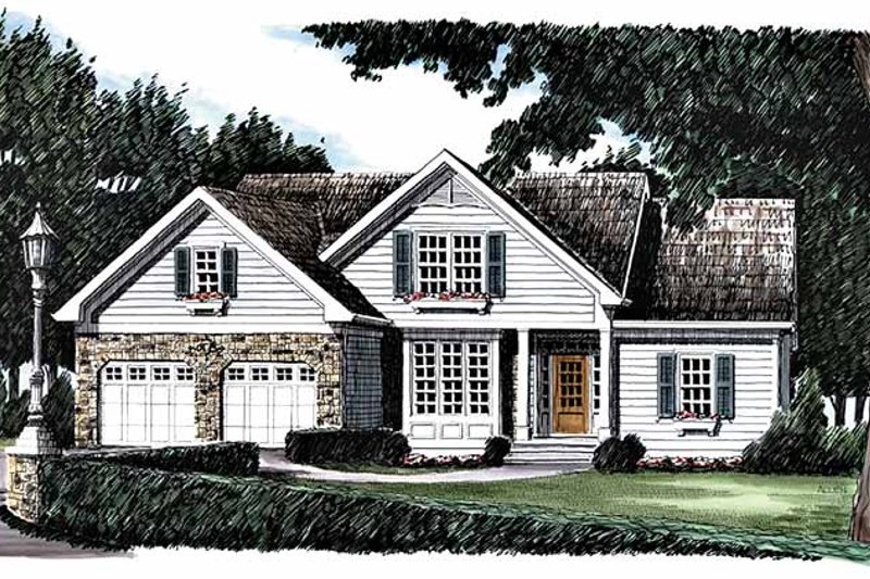 Country Exterior - Front Elevation Plan #927-395