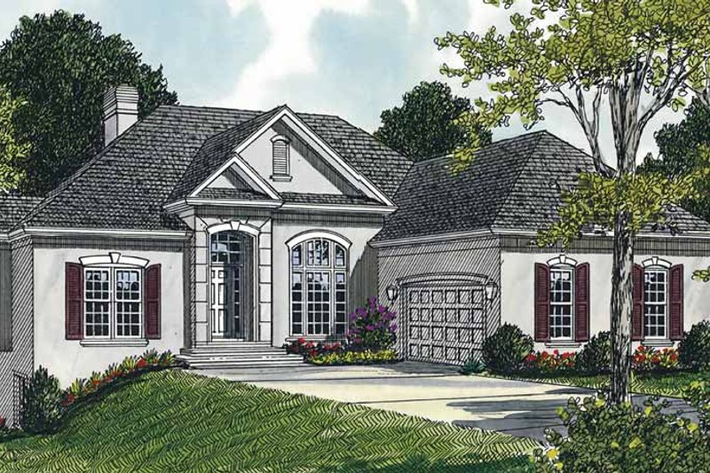 Dream House Plan - Traditional Exterior - Front Elevation Plan #453-94