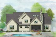 Craftsman Style House Plan - 5 Beds 4 Baths 2940 Sq/Ft Plan #929-1051 Exterior - Rear Elevation