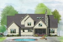 Architectural House Design - Craftsman Exterior - Rear Elevation Plan #929-1051