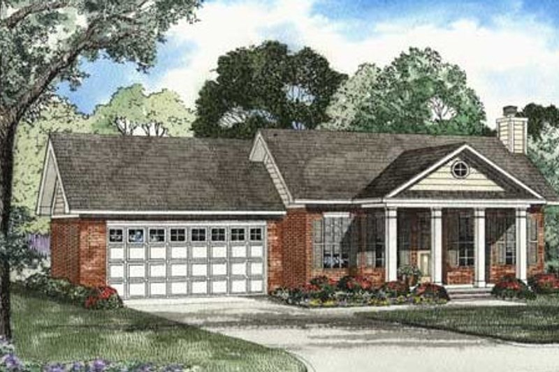Architectural House Design - Colonial Exterior - Front Elevation Plan #17-1120