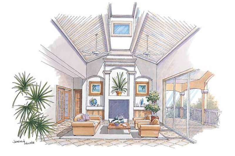 Country Interior - Family Room Plan #930-67 - Houseplans.com