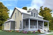 Farmhouse Style House Plan - 4 Beds 3 Baths 2713 Sq/Ft Plan #63-376 Exterior - Front Elevation