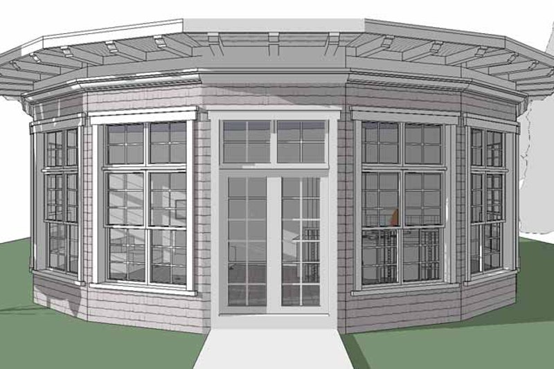 Contemporary Exterior - Front Elevation Plan #64-294 - Houseplans.com