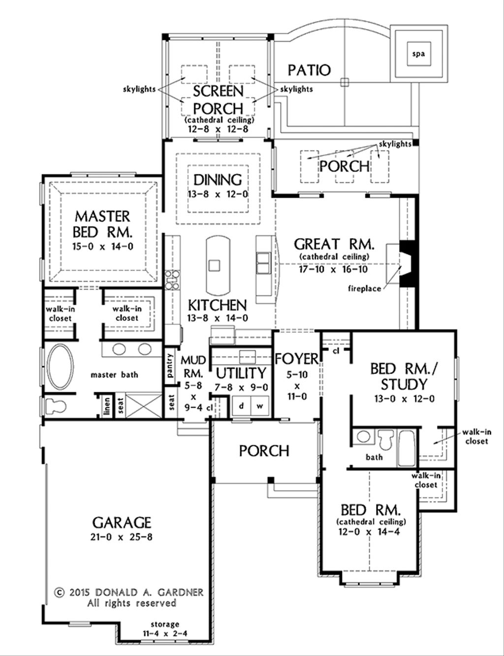 Ranch Style House Plan - 3 Beds 2 Baths 1908 Sq/Ft Plan #929-1013 on