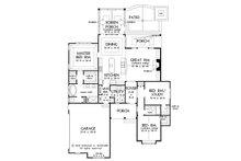 Ranch Floor Plan - Main Floor Plan Plan #929-1013
