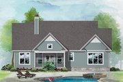 Ranch Style House Plan - 3 Beds 2 Baths 1555 Sq/Ft Plan #929-1117 Exterior - Rear Elevation