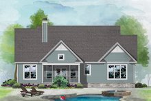 House Design - Ranch Exterior - Rear Elevation Plan #929-1117
