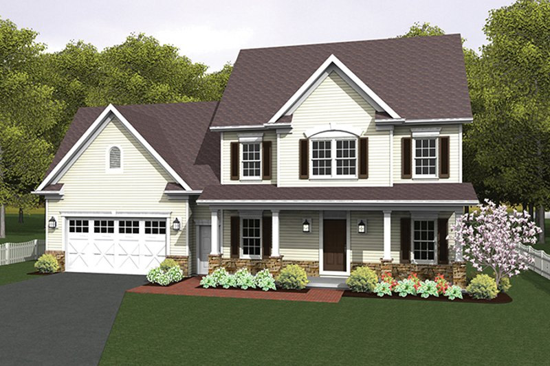 Country Exterior - Front Elevation Plan #1010-124 - Houseplans.com