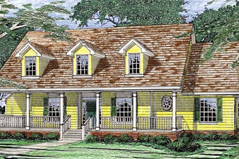 Architectural House Design - Country Exterior - Front Elevation Plan #472-148