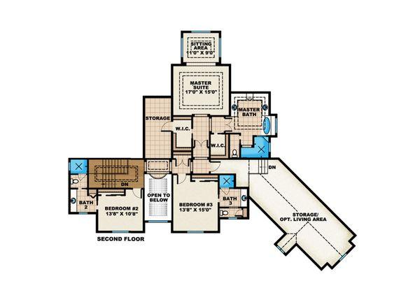 Country Floor Plan - Upper Floor Plan Plan #27-531