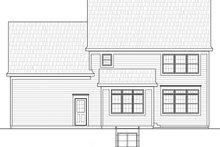 Colonial Exterior - Rear Elevation Plan #20-2250